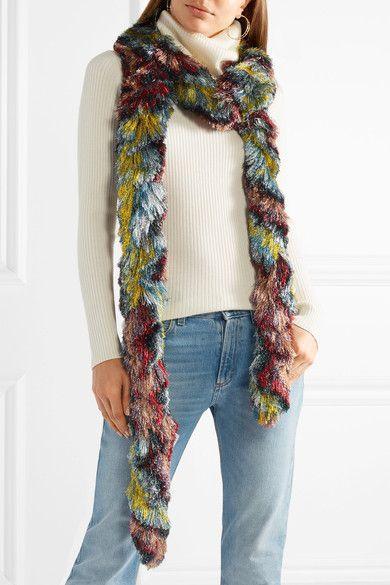 Fringed Metallic Knitted Scarf - Purple Missoni gCQsZnTsTc