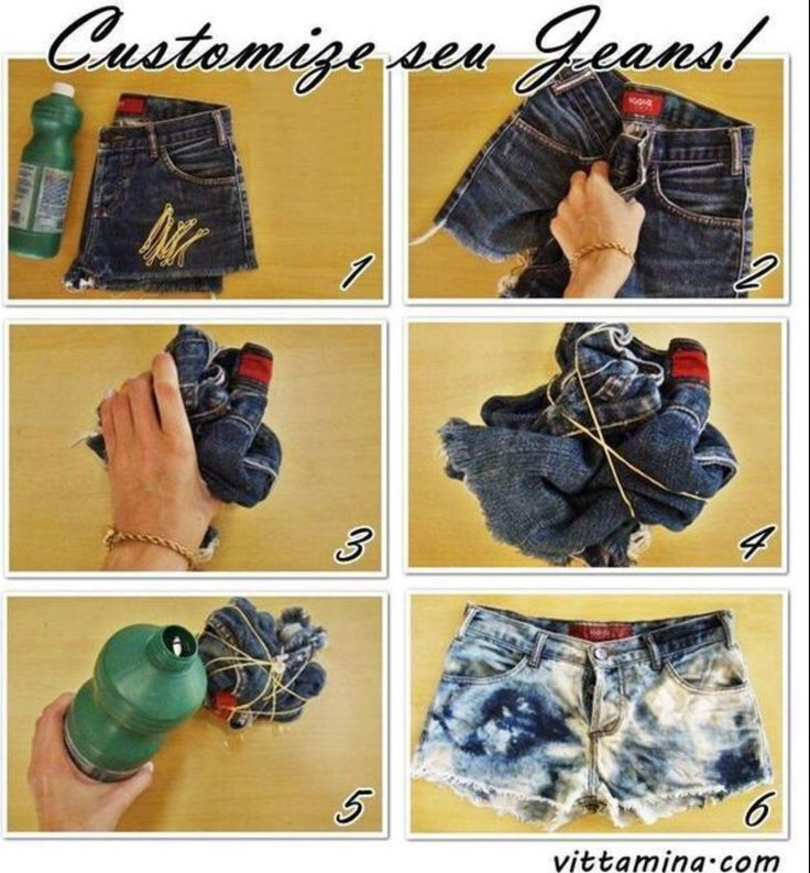 Customizing thrift store jeans?
