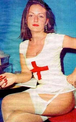 Davina McCall in Kim West nurse dress