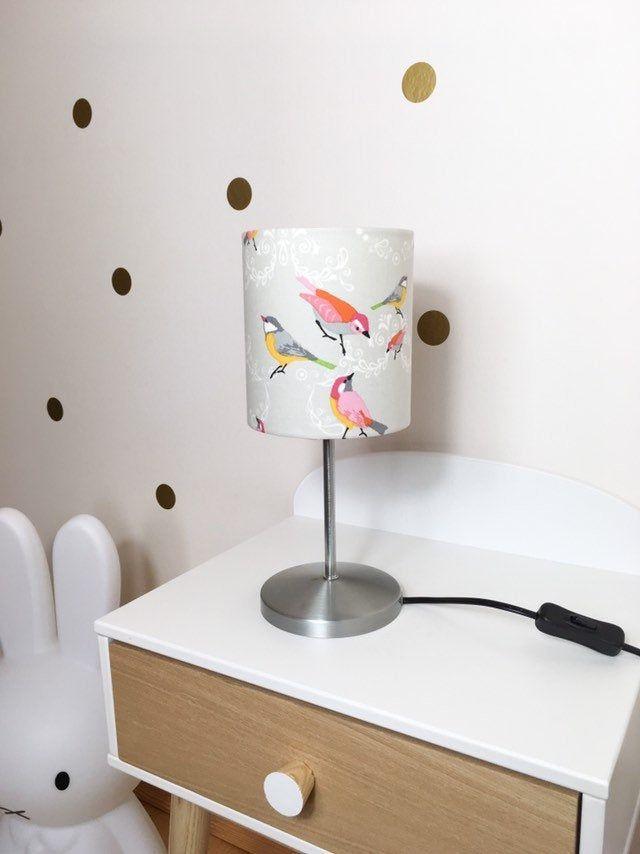 Nachttischlampe Tischlampe Kinderzimmer Vogel Kinderlampe