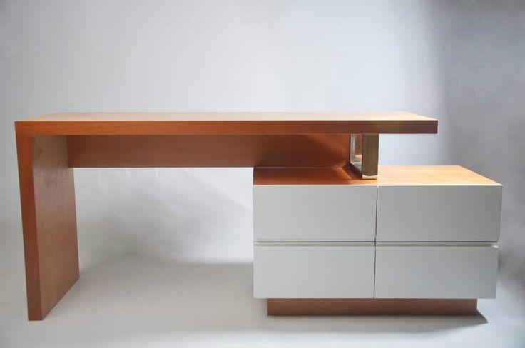Escritorio moderno de madera mesa para computadora 7304 for Diseno de mesa de computadora