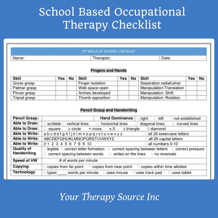 By:  Your Therapy Source Inc Summary:  Download of occupational therapy checklist for screening, informal assessment and monitoring functional skills in the school setting Product Details: E-Book: 2 pages Language: English Word format (you can edit it) and PDF LIST PRICE: $1.99 Shipping:  FREE – once payment is made you will receive an email with a link to download …