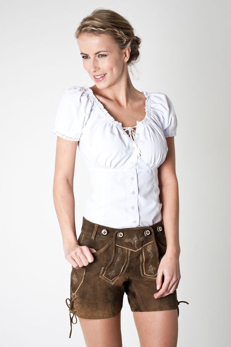 Trachten blouse with lovely lace elements from 24,95 at Bavaria Lederhosen order online ♥ fast shipping ♥ large selection ♥ great brands
