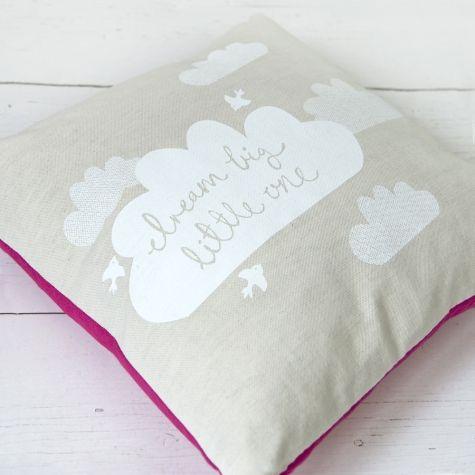 Robin & Mould Dream Big Cushion (pink)