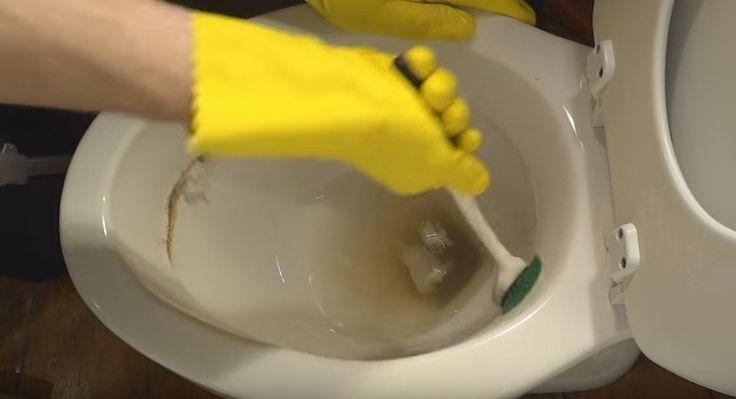 Die donkere kringen in de toiletpot zijn eigenlijk ophopingen van mineralen. Fris ziet het er in ieder geval niet uit! Dure scho...