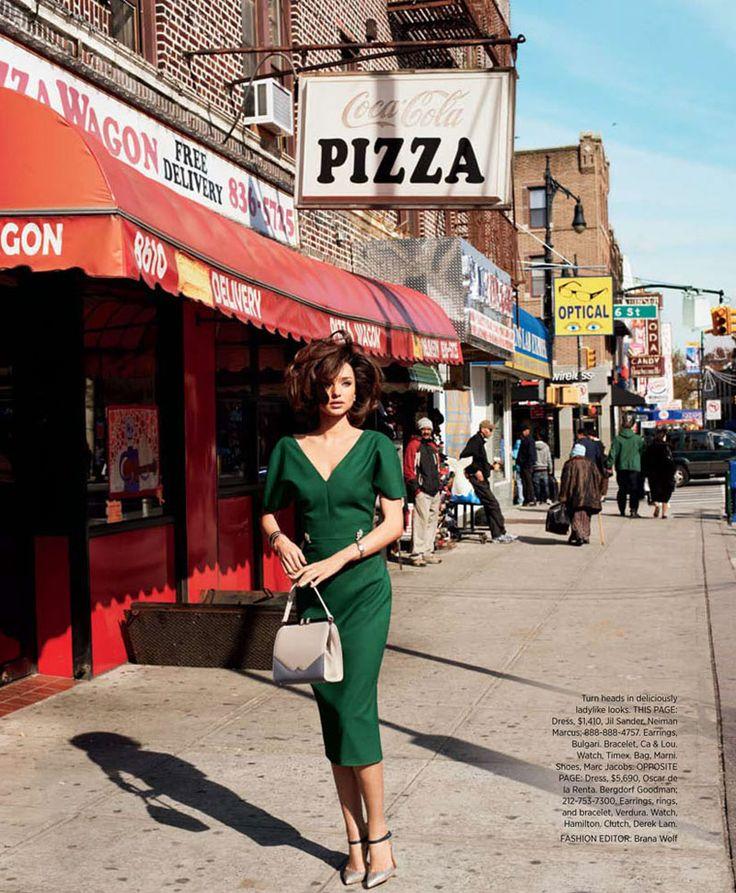 Miranda Kerr by Terry Richardson for Harper's Bazaar US April 2012: Miranda Kerr, Mirandakerr, Fashion, Style, Harpers Bazaar, Green Dress, Hair, Terry Richardson