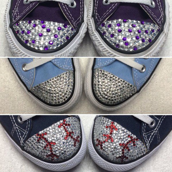 Custom Converse Canada.  Custom Made Converse Shoes.  Converse Bling. Blinged…