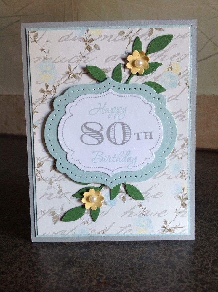 The 25 Best 80th Birthday Cards Ideas On Pinterest DIY