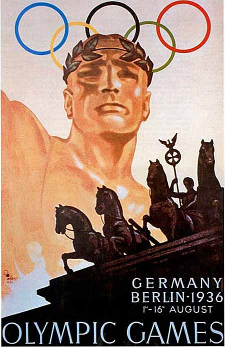 Hard to believe Germany hosted the Berlin Olympics in 1936, but the bid was won in 1931; Hitler saw the Games as an opportunity to promote his government and ideals of racial supremacy