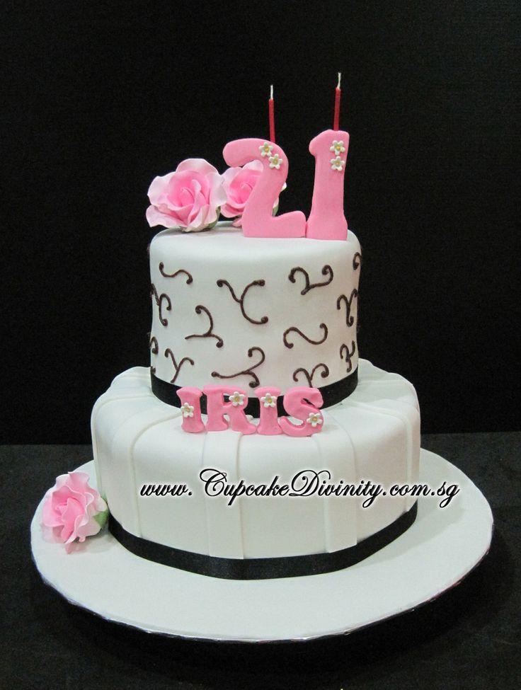 Fondant Cake For St Birthday