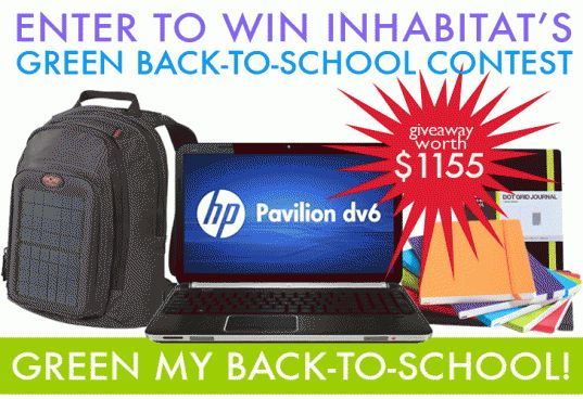 BACK TO SCHOOL GIVEAWAY: Enter to Win a HP Pavilion Laptop and Green Prize Package Worth $1155!   Inhabitat - Sustainable Design Innovation, Eco Architecture, Green Building