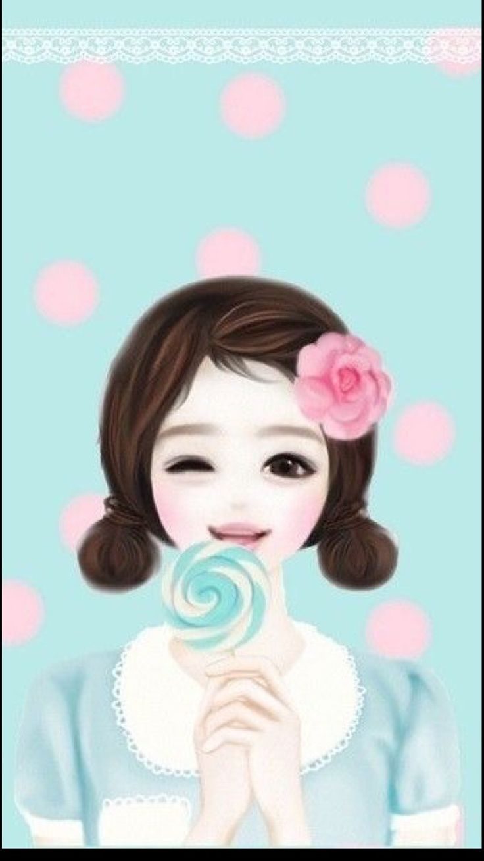 Wallpaper Cute Korean Girl Cartoon Viewsitenew Co
