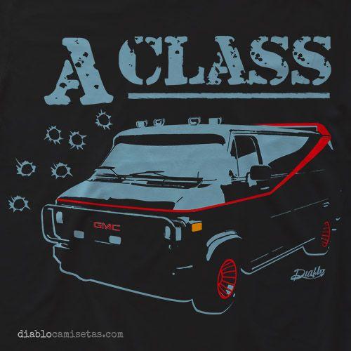 """Camiseta inspirada en la serie de los 80 """"El Equipo A"""",  """"A-TEAM"""". Camiseta Equipo A www.diablocamisetas.com"""