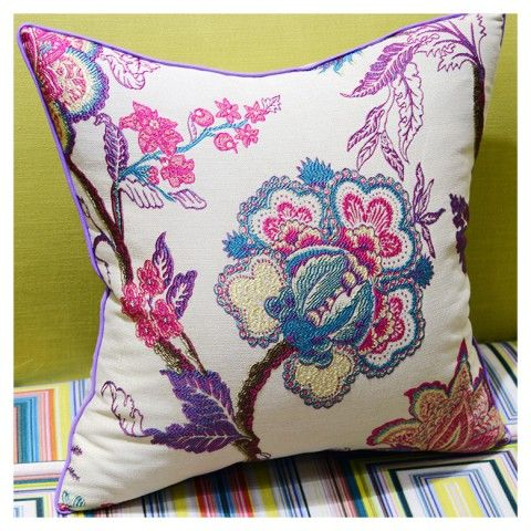 Beautiful Flowers Embroidered Pillows Chinoiserie Cheap Decorative Pillows