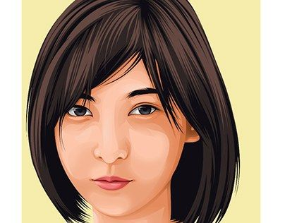 """fan art beautiful Asian girl Lion vector vexel "" http://be.net/gallery/40296547/fan-art-beautiful-Asian-girl-Lion"