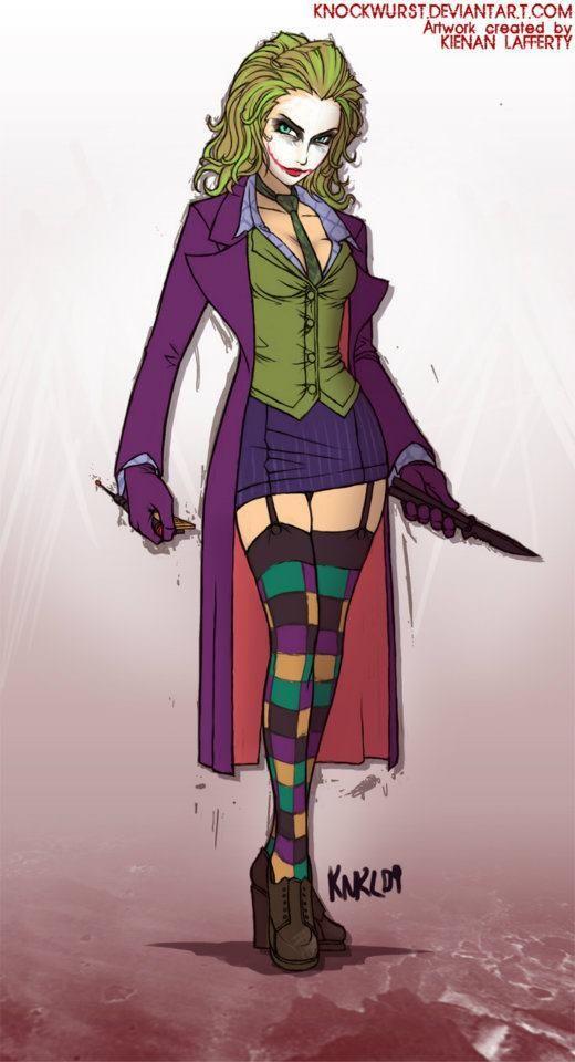The female Joker- it could work, Helena Bonham Carter of course.