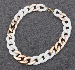 Colier Statement White Chain