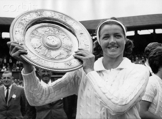 Margaret Court 1963 WImbledon Women's Singles Champion.
