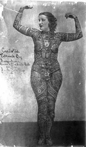 tattooed ladies in the 1800's   Scars of self-harm, tattooing and body piercing are often associated ...