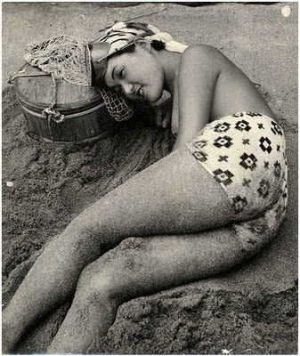 Japanese pearl diver (Ama or sea woman) ~ photo copyright of the Iwase Yoshiyuki Estate.