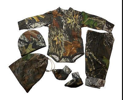 Mossy Oak Baby Outfit Infant Camo Newborn 4PC Gift Set Onesie Pant Hat – Camo Chique