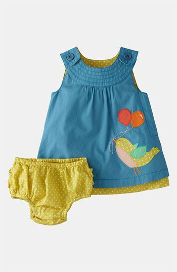 Mini Boden Appliqué Dress Bloomers (Infant) available at #Nordstrom. Baby girl clothes are the cutest!