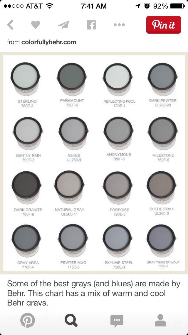 26 best income property scott 39 s paint colors images on for Best behr gray paint