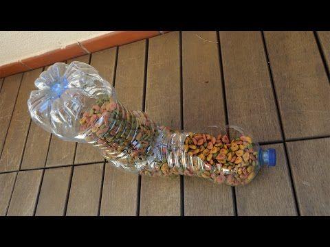 Dispensador de comida para gatos, con botellas recicladas - YouTube