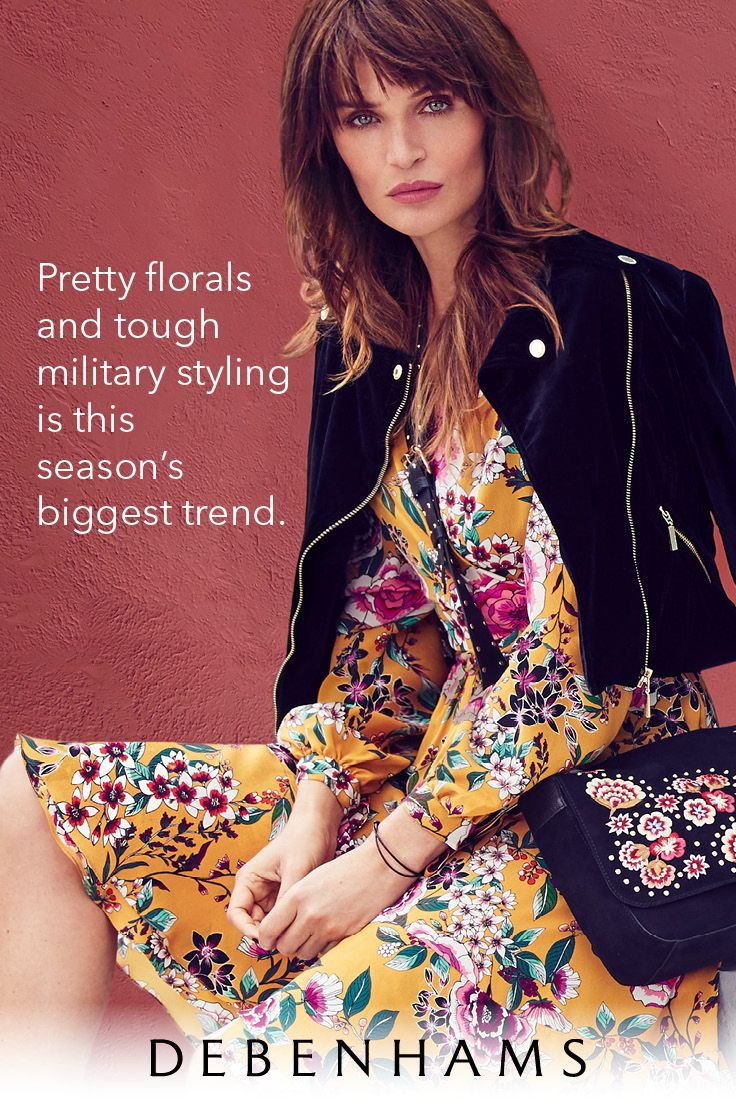 Blooms brigade is Autumn's biggest trend to be reckoned with! Combine pretty florals with tough military styling for the ultimate Autumn look.