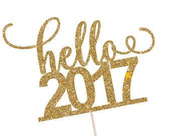 Happy New Year taart Topper Nieuwjaar taart door SocialBashAndCo