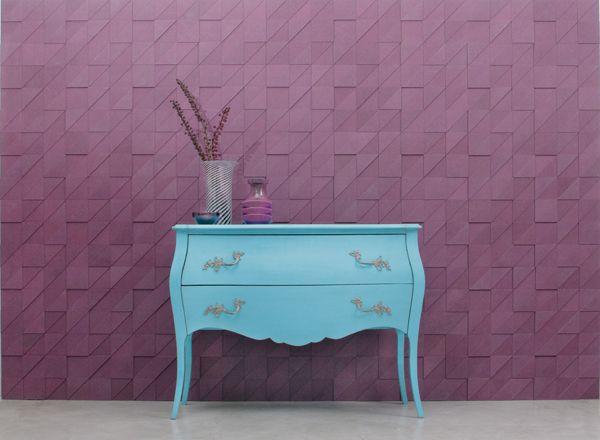 Violet Valchromat, decorative wall panels.
