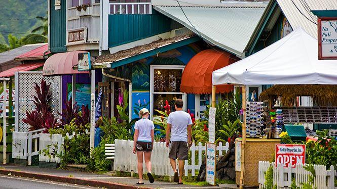 Hanalei Town - Kauai - Hawaii