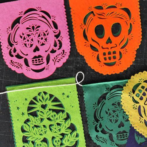 MUERTITOS Dia de Los Muertos mini banners | Ay Mujer