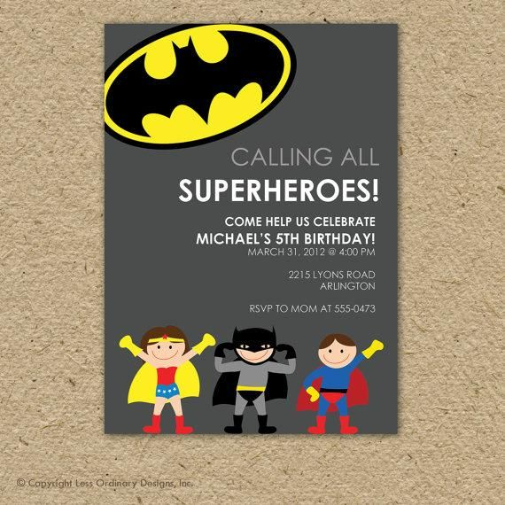 Make cute superhero invitations. // How To Throw The Most Awesome Superhero Party Ever