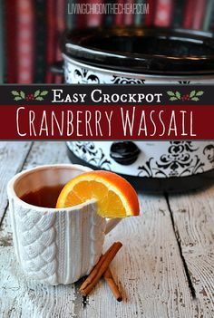 Cranberry Wassail (Easy Crockpot Recipe). Perfect winter/holiday drink. This version is so simple to make. Both tart and sweet. #holiday #wassail #recipe