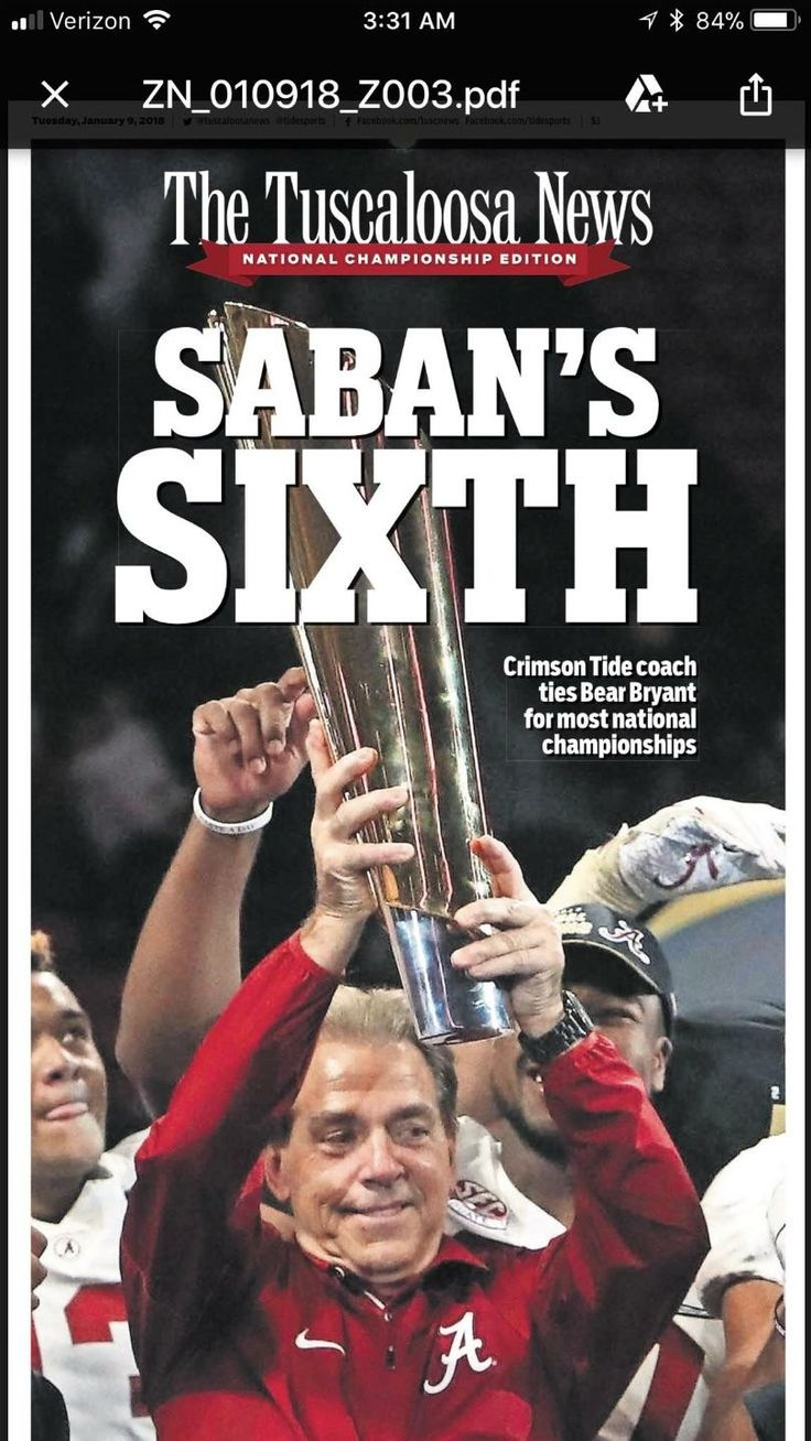 Coach Nick Saban Alabama Football National Championship