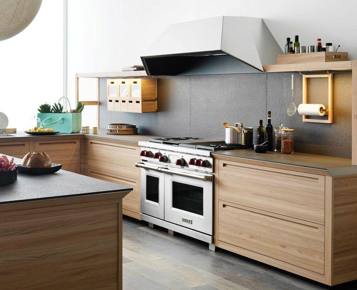 Wooden Fitted Kitchen With Island SineTempore New Mosaic By VALCUCINE Design  Gabriele Centazzo