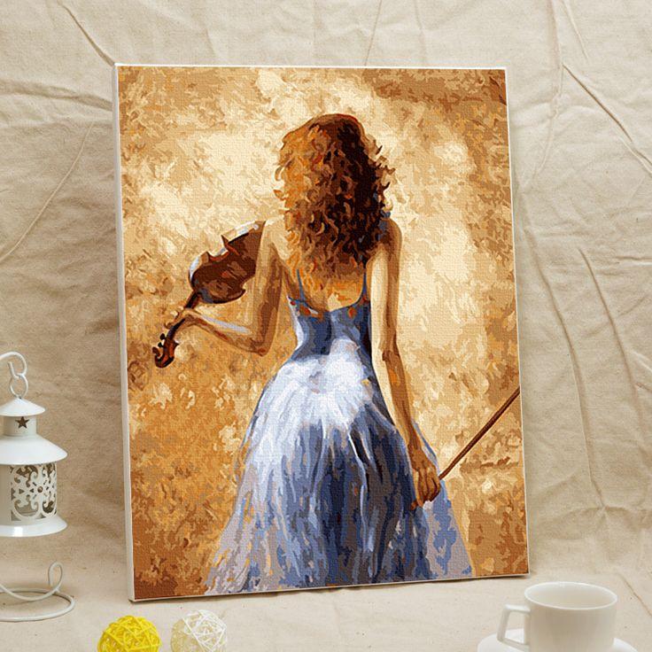 DIY handmade figures By Numbers digital paintings