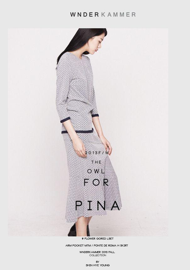 wnderkammer#2013FW#pina#flower gored long top #gored long skirt# www.wnderkammer
