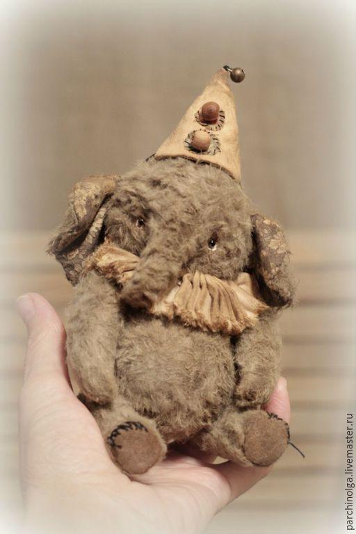Купить Слоник Вася - серый, тедди, тедди слоник, слоник тедди, слоник игрушка