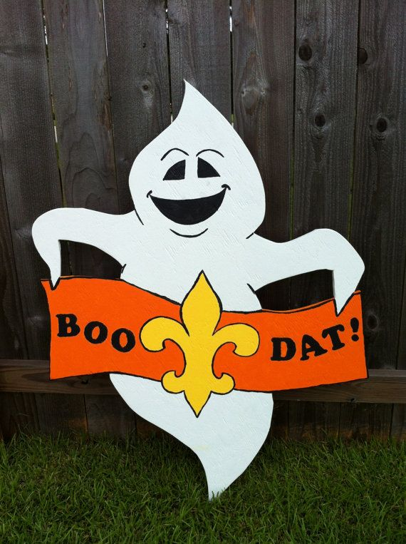 Boo Dat Ghost Halloween Lawn Decoration by FTLProductions on Etsy, $45.00