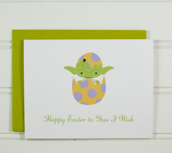 34 best easter greeting cards images on pinterest greeting cards yoda easter card star wars card easter card for star wars fan cute m4hsunfo