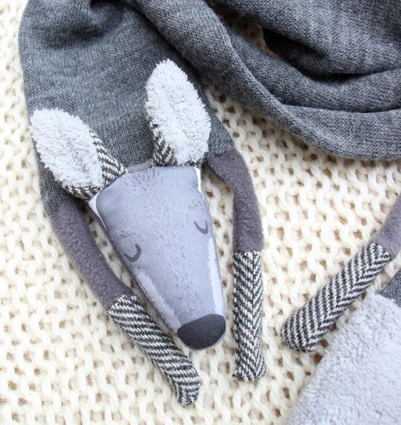 WOLF SCARF long size for adults by NATURALLIVINGpl on Etsy