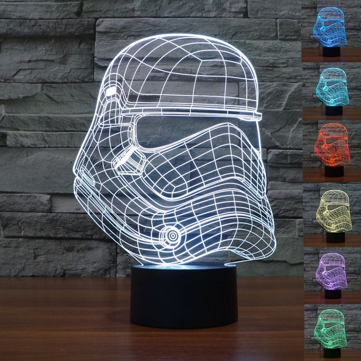 2016 Amazing Star Wars Storm Troops 3D Led Table Lamp Optical Illusion Children Night Light 7 Color Lava Lamp Novelty Led Light //Price: $US $25.81 & Up to 18% Cashback on Orders. //     #homedecor