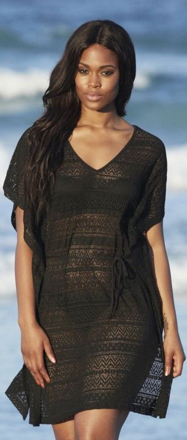 Plus size swimsuit cover up black 2014 - http://www.boomerinas.com/2013/03/02/beach-cover-ups-for-women-plus-size-tunics-dresses-caftans-sarongs/