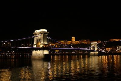 Budapest at night is magnificent! Food, drink & accommodations are very cheap!