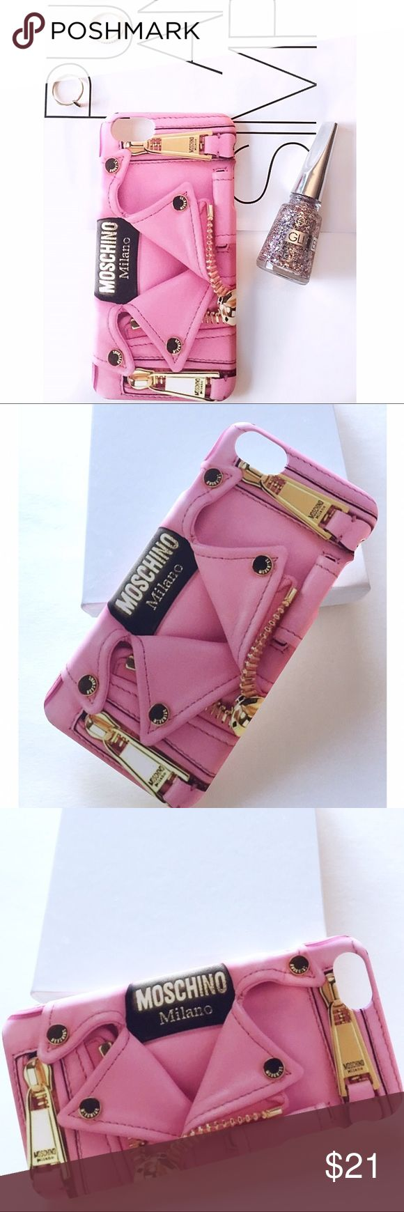 pink moschino phone case iphone 6plus very chic pink moschino phone case for iphone 6 6s plus. Black Bedroom Furniture Sets. Home Design Ideas