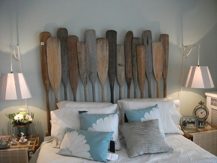 Canoe paddle bed backing the nook pinterest cabin for Backboard ideas for beds