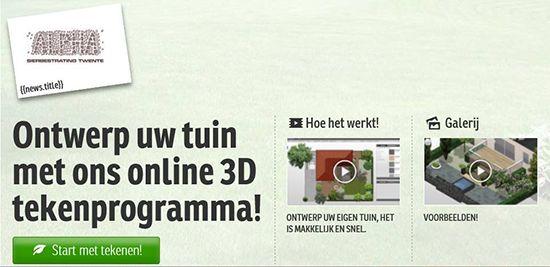 NIEUW! Ontwerp uw eigen tuin.  Probeer ons nieuwe programma YarDesign, een 3D tekentool waarmee u gemakkelijk online uw eigen tuin kunt ontwerpen. Klik hier om deze applicatie te starten: http://alphasierbestrating.yardesign.com/?locale=nl_NL
