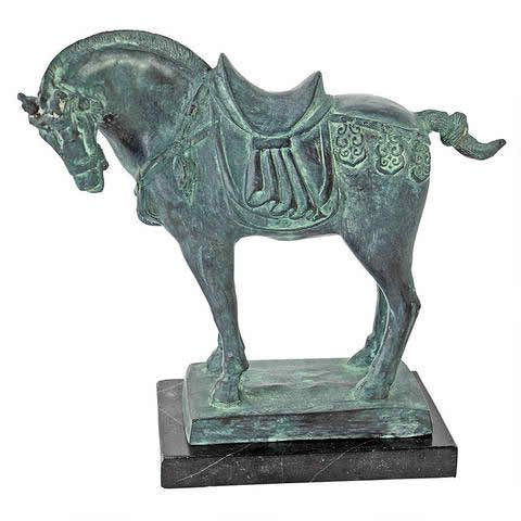 Tang Dynasty Horse Quality Lost Wax Bronze Statue